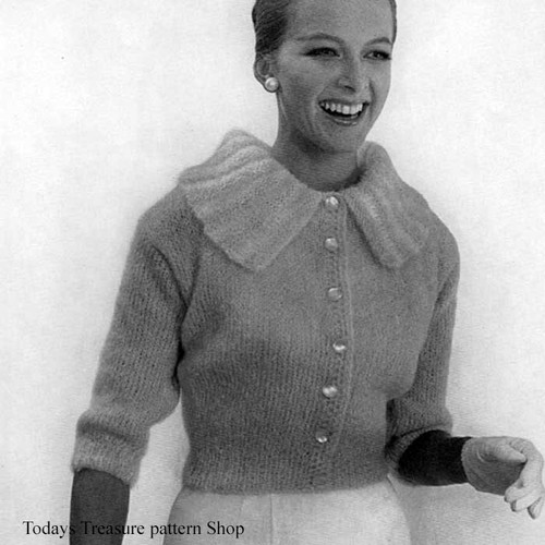 Vintage Mohair Blouse Knitting Pattern