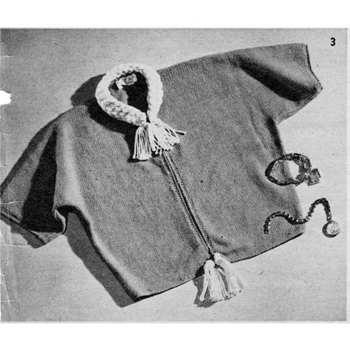 Knitted Bolero Pattern, Braided Collar