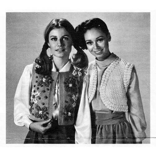 Two Boleros Knitting Pattern Vintage 1960s