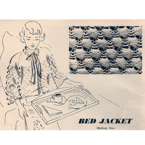 Bed Jacket Knitting Pattern, Vintage 1948