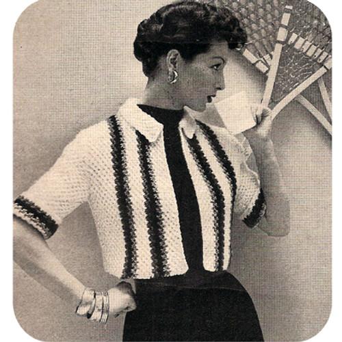 Striped Honeycomb Bolero Knitting Pattern