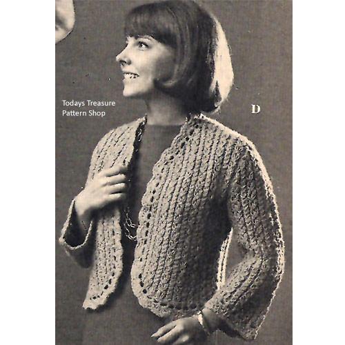 Knitting Pattern Short Shetland Jacket