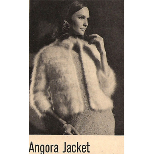 Knitting Pattern Vintage Angora Jacket