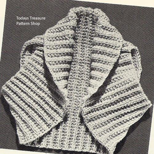 Ribbed Shrug Knitting Pattern