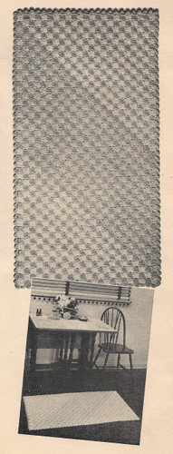Vintage Crochet Rug Pattern with Diagonal Stripe