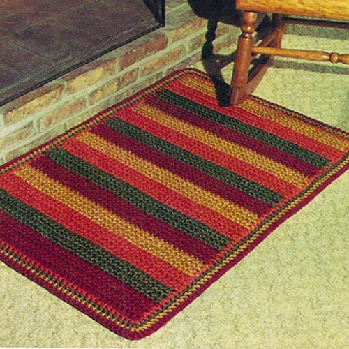 Wide Stripe Crochet Rug Pattern