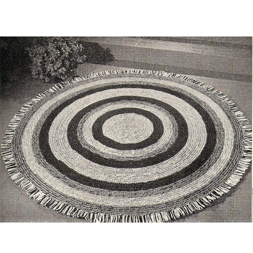 Fringed Round Rug Crochet Pattern