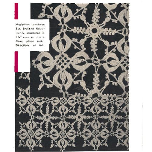 Crocheted Lace Mats & Runner Pattern, Spool Cotton