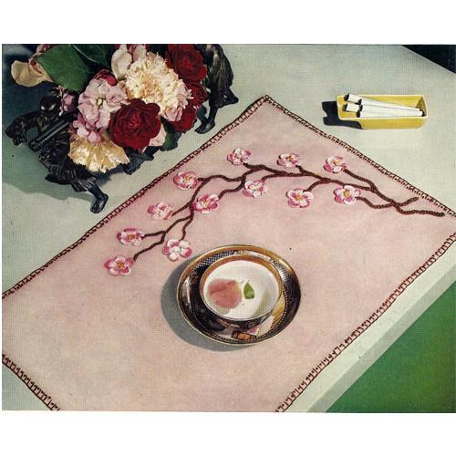 Crochet Apple Blossoms on Linen pattern