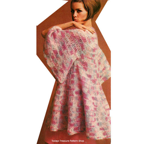 Loose Fitting Tropical Coat Knitting Pattern