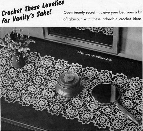 Crochet Flowers Medallion Runner Pattern