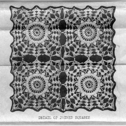Joined Flower Squares Pattern Design 7215