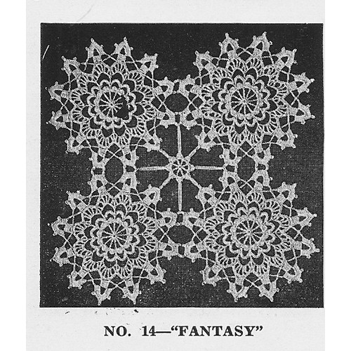 Round Lace Crochet Medallions Pattern, Vintage 1950s