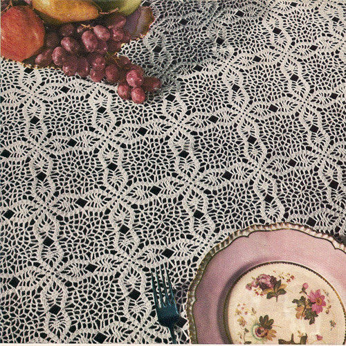 Crocheted Puritan Tablecloth Pattern, Vintage 1950s
