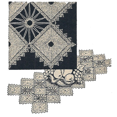 Vintage Crochet Spiderweb Crochet Block Runner