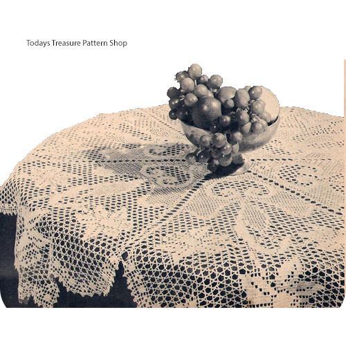 Round Crochet Teacloth Pattern, Daffodil