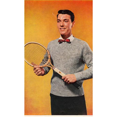 Crocheted Pullover Men's Pattern, Vintage 1960s