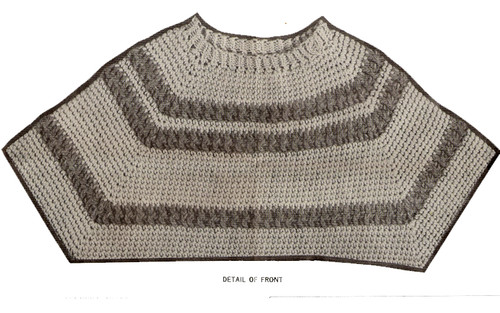 Mans Pullover Crochet Pattern Illustration