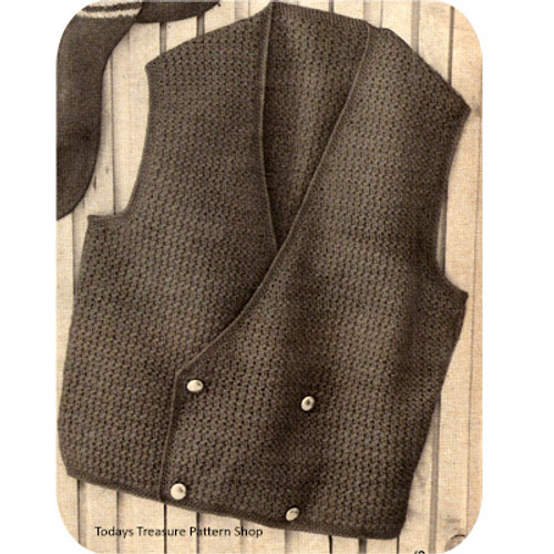 Mans Crochet Double Vested Vest Pattern