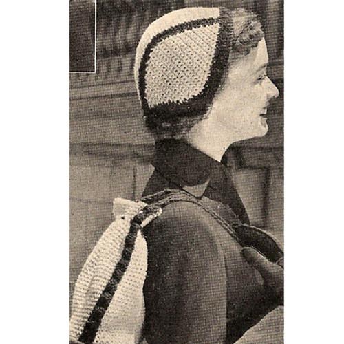 Crochet Skull Cap Crochet Pattern with Drawstring Bag