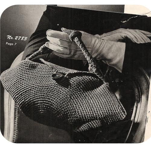 Vintage Crocheted Handbag Pattern from Coats & Clarks