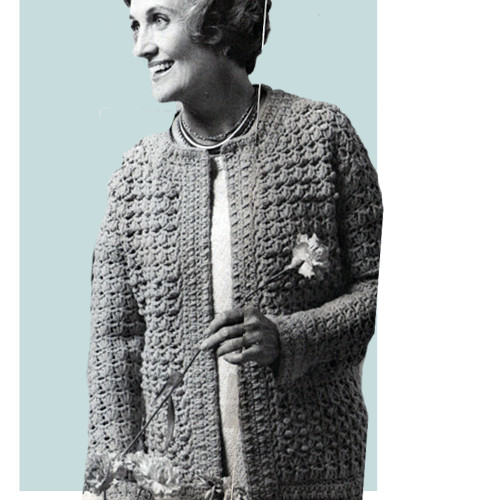 Womans Shell Stitched Cardigan Pattern