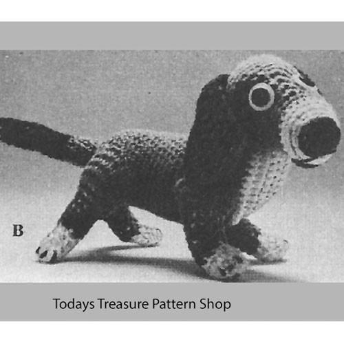 Stuffed Beagle Crochet Pattern