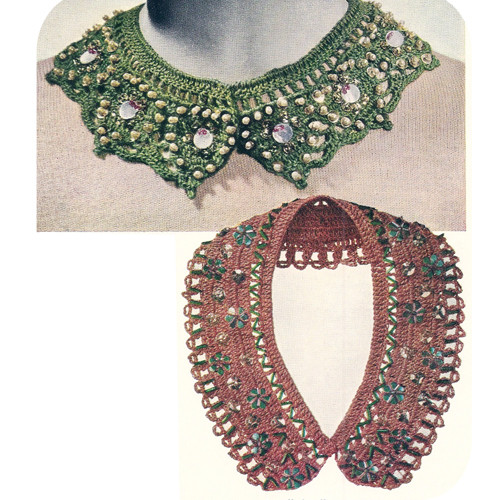 Beaded Crochet Collars Pattern