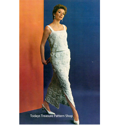 Irish Crochet Evening Dress Pattern