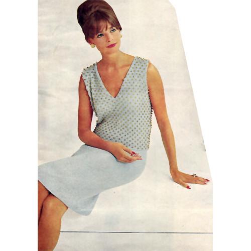 Knitting Pattern, Evening Dress with V-Neckline