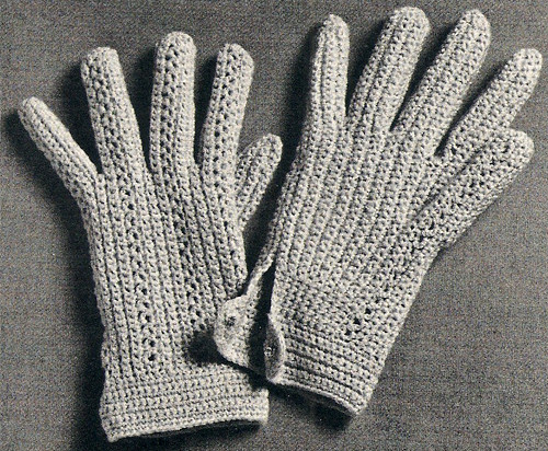 Shortie Gloves Crochet Pattern, Vintage 1960s