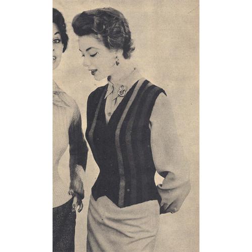 Vintage Striped Westkit Knitting Pattern