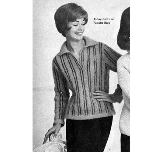 Striped Shirt Knitting Pattern