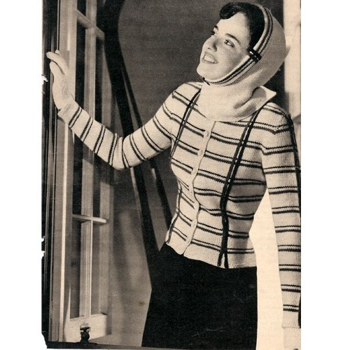 Vintage 1940's Jacket Knitting Pattern in Botany Germantown Knitting Worsted