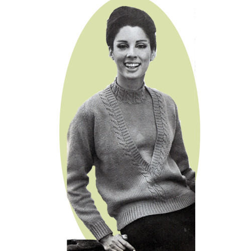Classic Cable Pullover Knitting Pattern in Bernat Berella