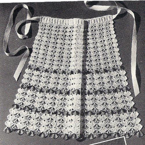 Flower Cockleshells Apron Crochet Pattern