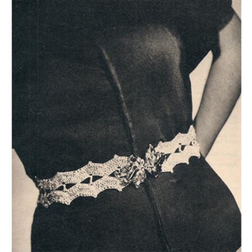 Free Crochet Metallic Belt Pattern