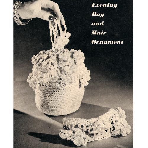 Vintage Flower Crochet Bag and Headband Pattern