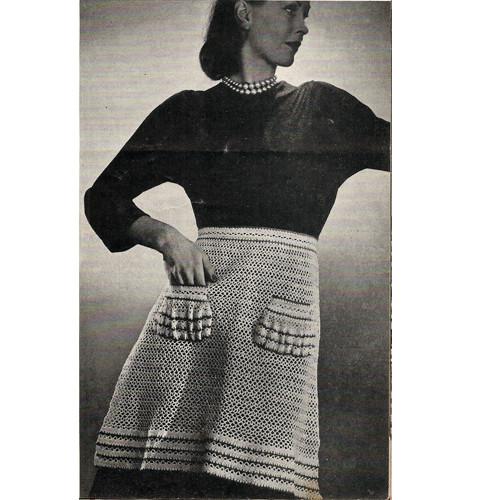 Vintage Crochet Apron Pattern with Pockets