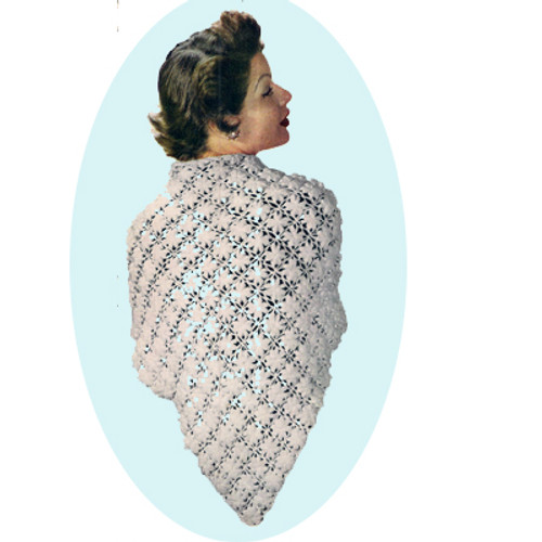 Flower Medallion Crochet Shawl Pattern