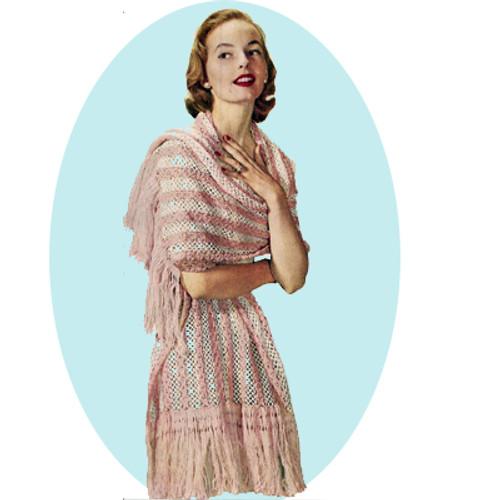 Fringed Evening Stole Crochet Pattern
