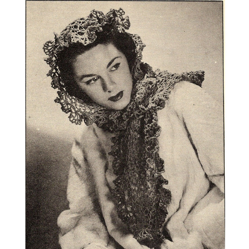 Vintage Crochet Lovers Knot Shawl Pattern