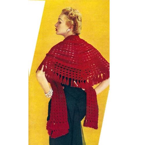 Vintage Lace Stole Crochet Pattern
