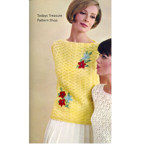 Vintage Crochet Shell Pattern, Waist Length