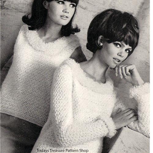 Loop Trimmed Sweater Shell Crochet Pattern