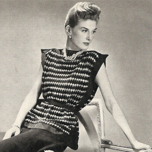 Vintage Striped Tabard Knitting Pattern