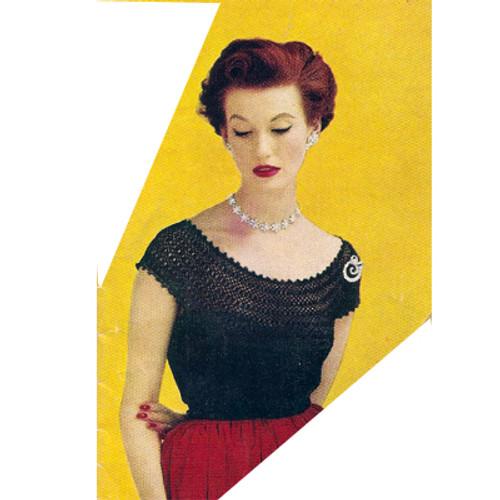 Vintage Crochet Peasant Blouse Pattern
