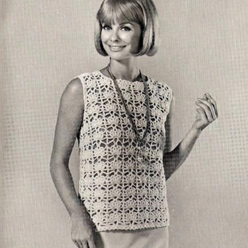 Crochet Shell Top Pattern, Vintage Coats & Clarks