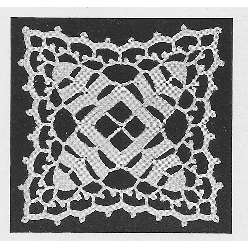 Crochet Square Pattern for Tablecloth