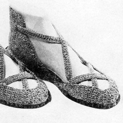 Vintage Crocheted Slippers pattern